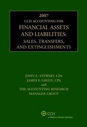 Cover of: CCH Accounting for Financial Assets and Liabilities (2007) | John E. Stewart