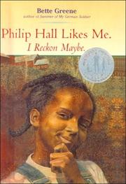 Cover of: Philip Hall likes me, I reckon maybe