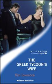 Cover of: The Greek Tycoon's Wife