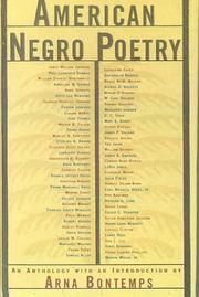 Cover of: American Negro Poetry (American Century)