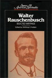 Cover of: Walter Rauschenbusch: selected writings