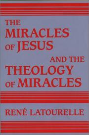 Cover of: The miracles ofJesus and the theology of miracles