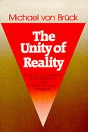 Cover of: The unity of reality