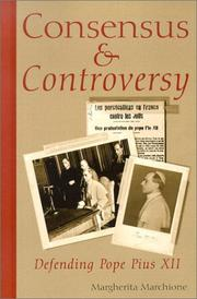 Cover of: Consensus and Controversy