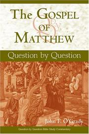 Cover of: The Gospel of Matthew | John F. O