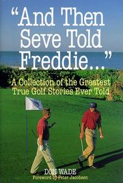 Cover of: And Then Seve Told Freddie