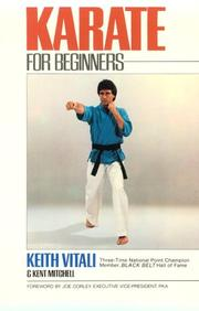 Cover of: Karate for beginners | Keith Vitali