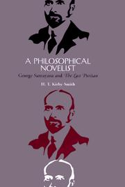 Cover of: A philosophical novelist