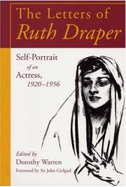 Cover of: The letters of Ruth Draper