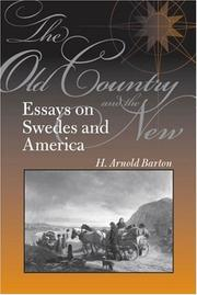 Cover of: The Old Country and the New | H.  Arnold Barton