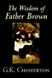 Cover of: The Wisdom of Father Brown by G. K. Chesterton
