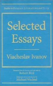 Cover of: Selected essays | Ivanov, V. I.