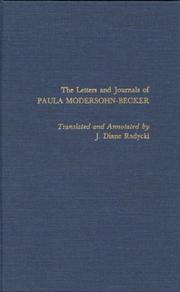 Cover of: The letters and journals of Paula Modersohn-Becker