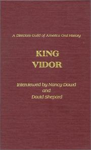 Cover of: King Vidor