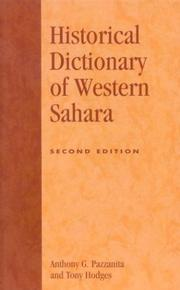 Cover of: Historical dictionary of Western Sahara