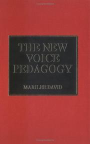 Cover of: new voice pedagogy | Marilee David