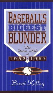 Cover of: Baseball's biggest blunder