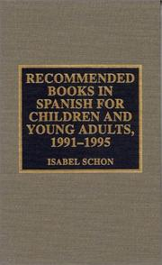 Cover of: Recommended books in Spanish for children and young adults, 1991-1995