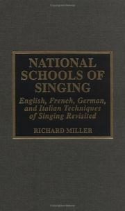 Cover of: National schools of singing