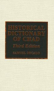 Cover of: Historical dictionary of Chad