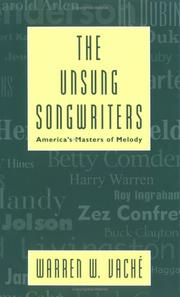 Cover of: unsung songwriters | Warren W. VacheМЃ