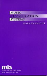Cover of: Music Classification Systems | Barnhart Linda