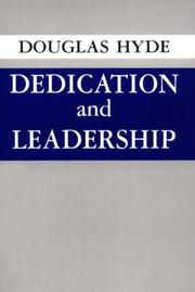 Cover of: Dedication And Leadership