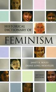 Cover of: Historical dictionary of feminism