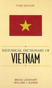 Cover of: Historical dictionary of Vietnam | Bruce McFarland Lockhart