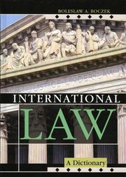 Cover of: International law | Boleslaw Adam Boczek