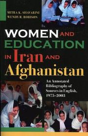 Cover of: Women and Education in Iran and Afghanistan | Mitra K. Shavarini