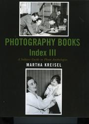 Cover of: Photography books index III | Martha Kreisel