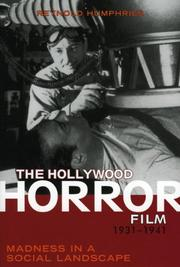 Cover of: The Hollywood Horror Film, 1931-1941 | Reynold- Humphries