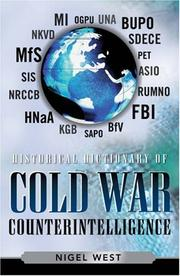 Cover of: Historical Dictionary of Cold War Counterintelligence (Historical Dictionaries of Intelligence and Counterintelligence)
