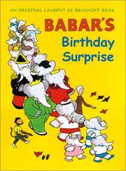 Cover of: Anniversaire de Babar