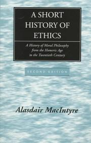 Cover of: A short history of ethics