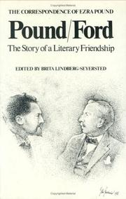Cover of: Pound/Ford, the story of a literary friendship | Ezra Pound