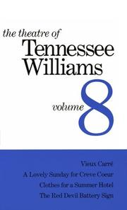 Cover of: The theatre of Tennessee Williams: and other one-act plays