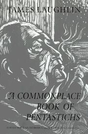Cover of: A commonplace book of pentastichs