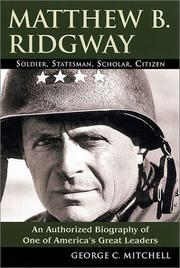 Cover of: Matthew B. Ridgway