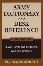 Cover of: Army dictionary and desk reference