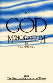 Cover of: God memorandum | Og Mandino