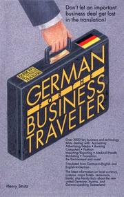Cover of: German for the business traveler