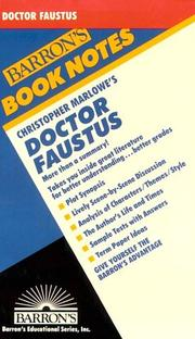 Cover of: Christopher Marlowe's Doctor Faustus | Jane Rosner