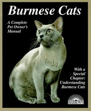 Cover of: Burmese cats | Carolyn M. Vella