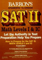 Cover of: How to prepare for SAT II--mathematics level I IC
