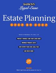 Cover of: Estate planning step-by-step