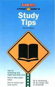 Cover of: A pocket guide to correct study tips