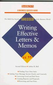 Cover of: Writing effective letters and memos