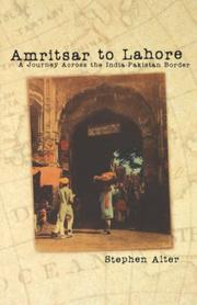 Cover of: Amritsar to Lahore | Stephen Alter